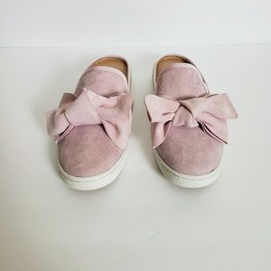 Ugg Pink Suede Bow Slides Mules Sz. 8 Wide